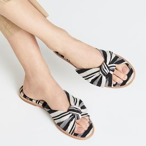 Madewell Half Bow Sandals in Fabric